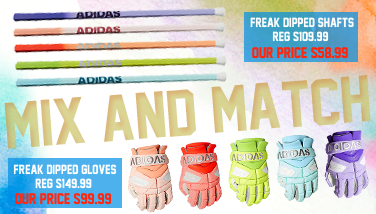 Adidas Freaked Dipped Lacrosse Gloves and Shafts